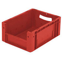 Xl Container 400x300x170 mm (Lxwxh). Solid Sides. Pick Open Front. Red