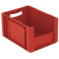 Xl Container 400x300x220 mm (Lxwxh). Solid Sides. Pick Open Front. Red