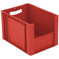 Xl Container 400x300x270 mm (Lxwxh). Solid Sides. Pick Open Front. Red