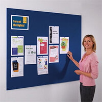 Frameless Felt Noticeboard 600x900mm (Hxw) Blue