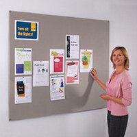 Frameless Felt Noticeboard 600x900mm (Hxw) Grey