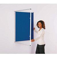 Express Economy Indoor Lockable Noticeboard 900x600mm (Hxw) Blue