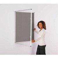 Express Economy Indoor Lockable Noticeboard 900x600mm (Hxw) Grey
