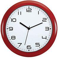 Wall Clock 300mm Diameter Red