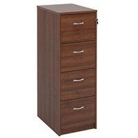 Filing Cabinet 4 Drawer Walnut Classic Furniture