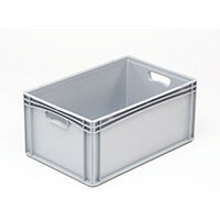 Basicline 600X400X270mm Solid Sides And Base With Hand Holes