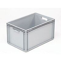 Basicline 600X400X320mm Solid Sides And Base With Hand Holes