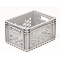 Basicline 400X300X220mm Ventilated Sides And Base With Hand Holes