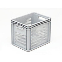 Basicline 400X300X320mm Ventilated Sides And Base With Hand Holes