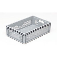 Basicline 600X400X170mm Ventilated Sides And Base With Hand Holes