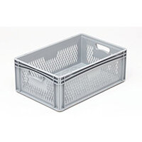 Basicline 600X400X220mm Ventilated Sides And Base With Hand Holes