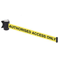 Wallmaster 300 Authorised Access Only 3M Yellow Webbing With Black Print