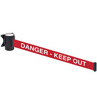 Wallmaster 300 Danger Keep Out 3M Red Webbing With White Print