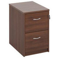 Deluxe Executive 2 Drawer Filing Cabinet In Walnut Anti Tilt Fully Locking Supplied With Handles Accepts Foolscap Onl