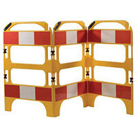 3 Gate Workgate Yellow Manhole Barrier Sets