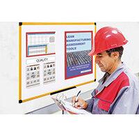 Yellow Maya Frame Whiteboard Magnetic W/ Metal Steel 900X600