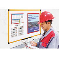 Yellow Maya Frame Whiteboard Magnetic W/ Metal Steel 2400X1200