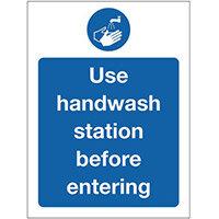 Sign Use Handwash Self-Adhesive Vinyl 150x200