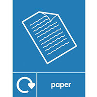 """Recycling Sign """"Paper"""" Self-Adhesive Vinyl 150x200mm"""