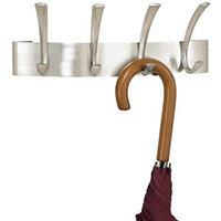 Curve Coat Rack 4 Hook Silver (Sl)