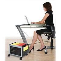 Scoot Under Desk Mobile File Cart (Foolscap) Black (Bl)