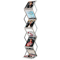 Fast Paper 6 Compartment Portable Display System