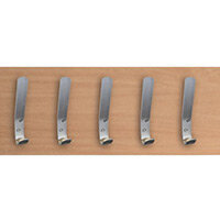 Plain Aluminium Cloakroom Hooks Pack Of 5