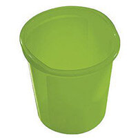 13 Litre Plastic Wastebasket In Green