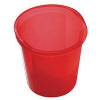 13 Litre Plastic Wastebasket In Red