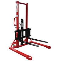 1000Kg Straddle Manual Pallet Stacker 1600mm Height Lift With Adjustable Forks