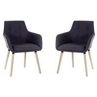 4 Legged Reception Chair Graphite (Set Of 2)