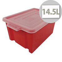 Storemaster Midi Crate Capacity 14.5 Litres Red