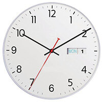 Datetime 28Cm Day/Date Wall Clock