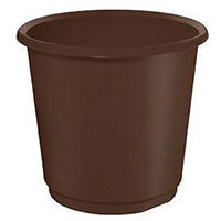 18 Litre Brown Plastic Wastebaskets X 4