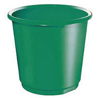 18 Litre Green Plastic Wastebaskets X 4