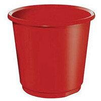 18 Litre Red Plastic Wastebaskets X 4