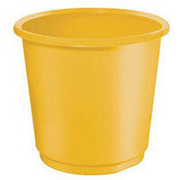 18 Litre Yellow Plastic Wastebaskets X 4