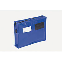 Tamper Evident Full Gusset Mail Pouch Blue 406x305x76mm