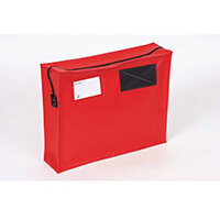 Tamper Evident Full Gusset Mail Pouch Red 457x330x76mm