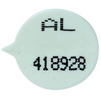 White Numbered Round Seals Pack Of 500