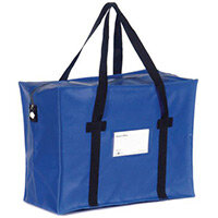 Heavy Duty Blue Tamper Evident Holdall 405x305x203mm