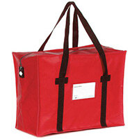Heavy Duty Red Tamper Evident Holdall 508x356x152mm