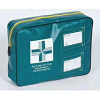 Padded Pharmacy Tamper Evident Pouch Green And Yellow 410x310x100mm