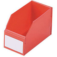K-Bin Polyprop Pack Of 50 Hxwxl 100x100x200mm Red