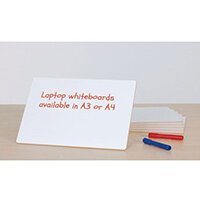 Small Hand-held Laptop Whiteboard A3 Pack of 6