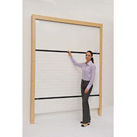 Timber-Effect Mdf Rollerboard Wall Mounted (3 Plain White Sections Included) HxW mm: 2520x2505