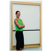 Timber-Effect Mdf Rollerboard Wall Mounted (3 Plain White Sections Included) HxW mm: 1322x1900
