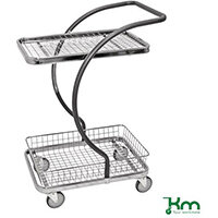 All Round Table Trolley With 1 Mesh Shelf And 1 Basket
