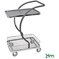 All Round Table Trolley With 1 Shelf And 1 Basket