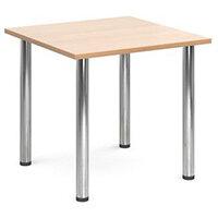 Rectangular Chrome Leg Flexi-Table Beech H:725 W:800 D:800